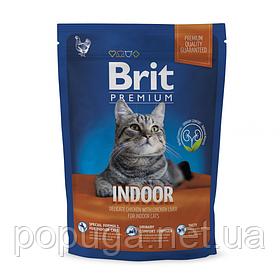 Корм Brit Premium Cat Indoor для кошек живущих в помещении КУРИЦА, 1,5 кг