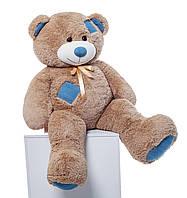 Мистер Медведь Латте с джинсовыми латками 150 см, фото 1