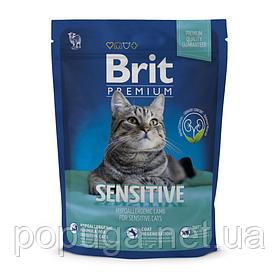 Корм Brit Premium Cat Sensitive для кошек с чувствительным пищеварением ЯГНЕНОК, 1,5 кг