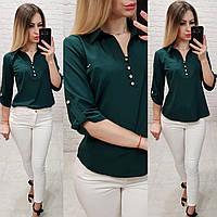 Сорочка / блуза / блузка арт. 828 темно зеленого / зелений, фото 1