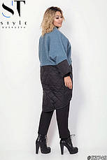 Куртка-пальто женское черное демисезонное стеганое размеры: 48-52,54-58, фото 3