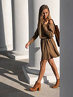 Платье женское осень - зима чёрное, бежевое, бордо, горчица