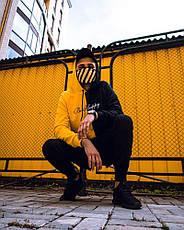Толстовка худи Be Happy черно-желтый, фото 3
