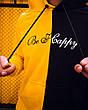 Толстовка худи Be Happy черно-желтый, фото 2