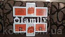 """Фоторамка мультирамка коллаж """"Family"""" из Дерева на 6 фото 10х15, фото 3"""
