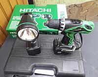 💡Шуруповерт Hitachi DS14DVF3 14,4В. (Оригинал, Япония) + фонарик. 2 батареи. Гарантия от производителя 3 года