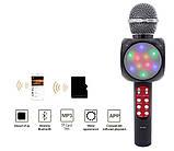 Беспроводной караоке микрофон WS1816 со цветомузыкой и чехлом - Черный, фото 2