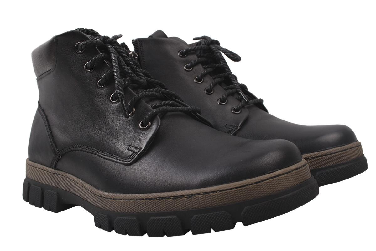 Ботинки мужские зимние Vadrus натуральная кожа, цвет черный, размер 39-45