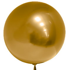 "Шар 20""/50см Бабл Bubble золото (Китай)"