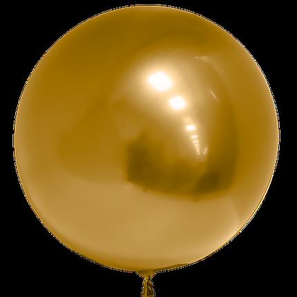 "Шар 20""/50см Бабл Bubble золото (Китай), фото 2"
