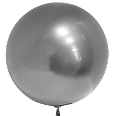 """Шар 20""""/50см Бабл Bubble серебро (Китай)"""