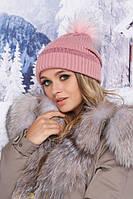 Женская зимняя шапка-ковпак «Либро»