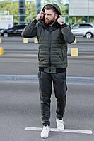 Мужской зимний спортивный костюм Nike с капюшоном утепленный 3 цвета