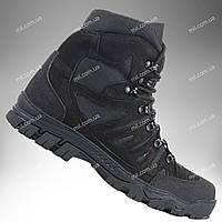 ⭐⭐Ботинки тактические демисезонные / военная, армейские обувь КАСКАД (black) | военная обувь, военные ботинки, военные боты, військове взуття,
