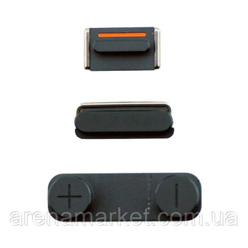 Набор боковых кнопок для Apple iPhone 5 (включения/выключения, включения, режима без звука) - Space Gray