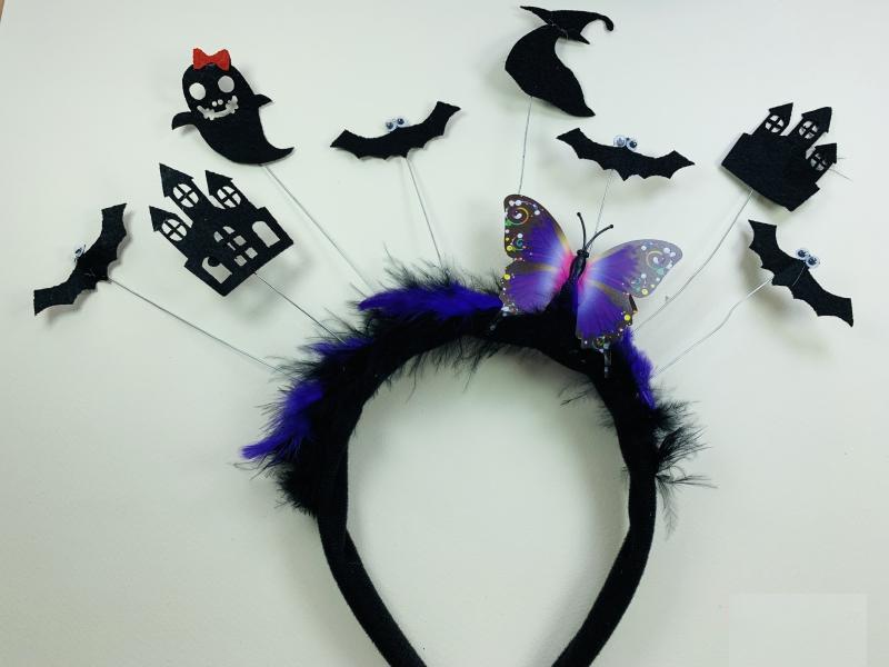 Обруч на Хэллоуин с Бабочкой и фигурами