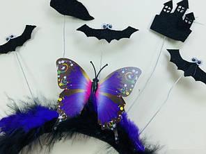 Обруч на Хэллоуин с Бабочкой и фигурами, фото 2
