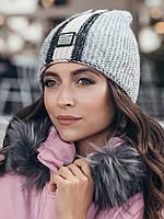 Женская зимняя шапка-ковпак «Анжеліна»