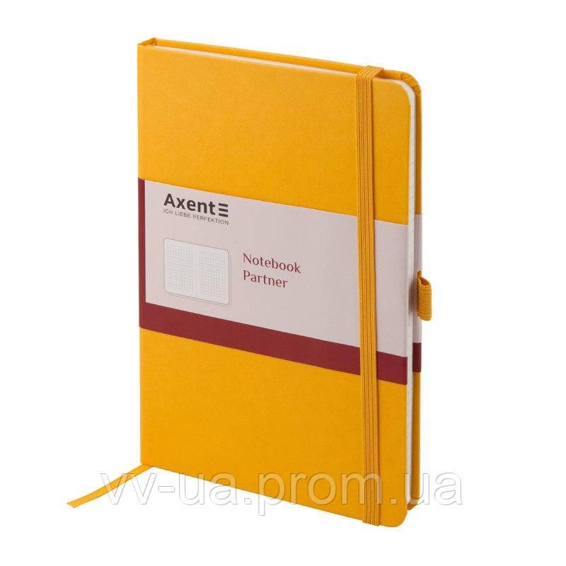Книга записная Axent Partner 8201-08-A, А5-, 96 листов, клетка, желтая (8201-08-А)