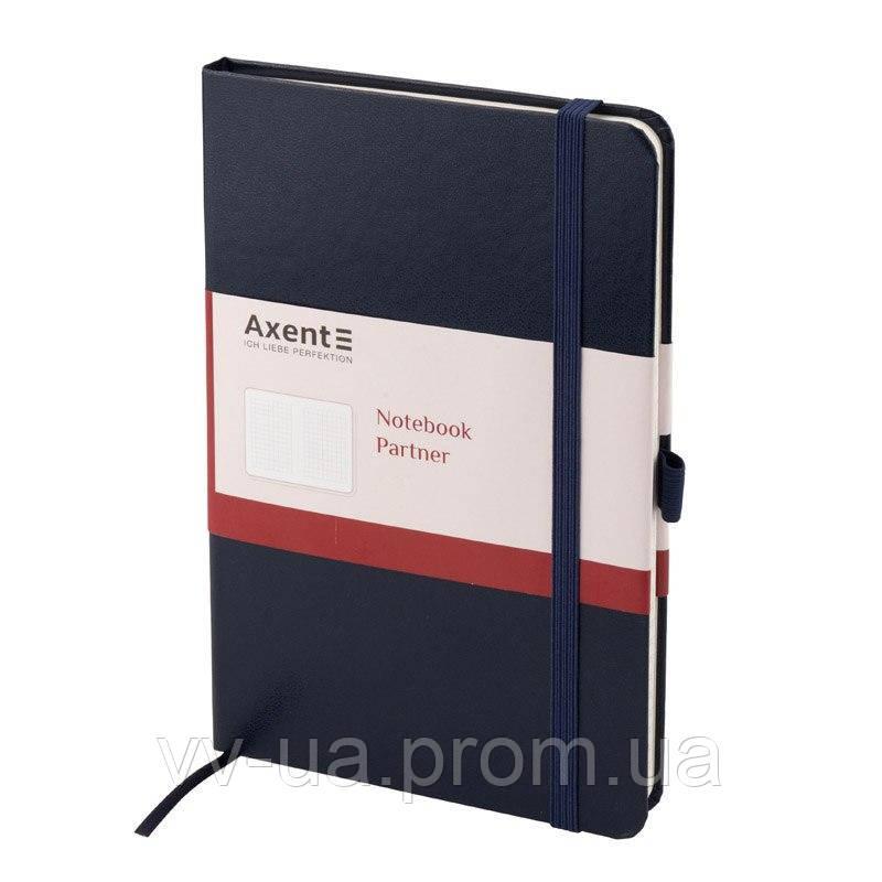 Книга записная Axent Partner 8203-02-A, А4, 100 листов, клетка, синяя (8203-02-А)