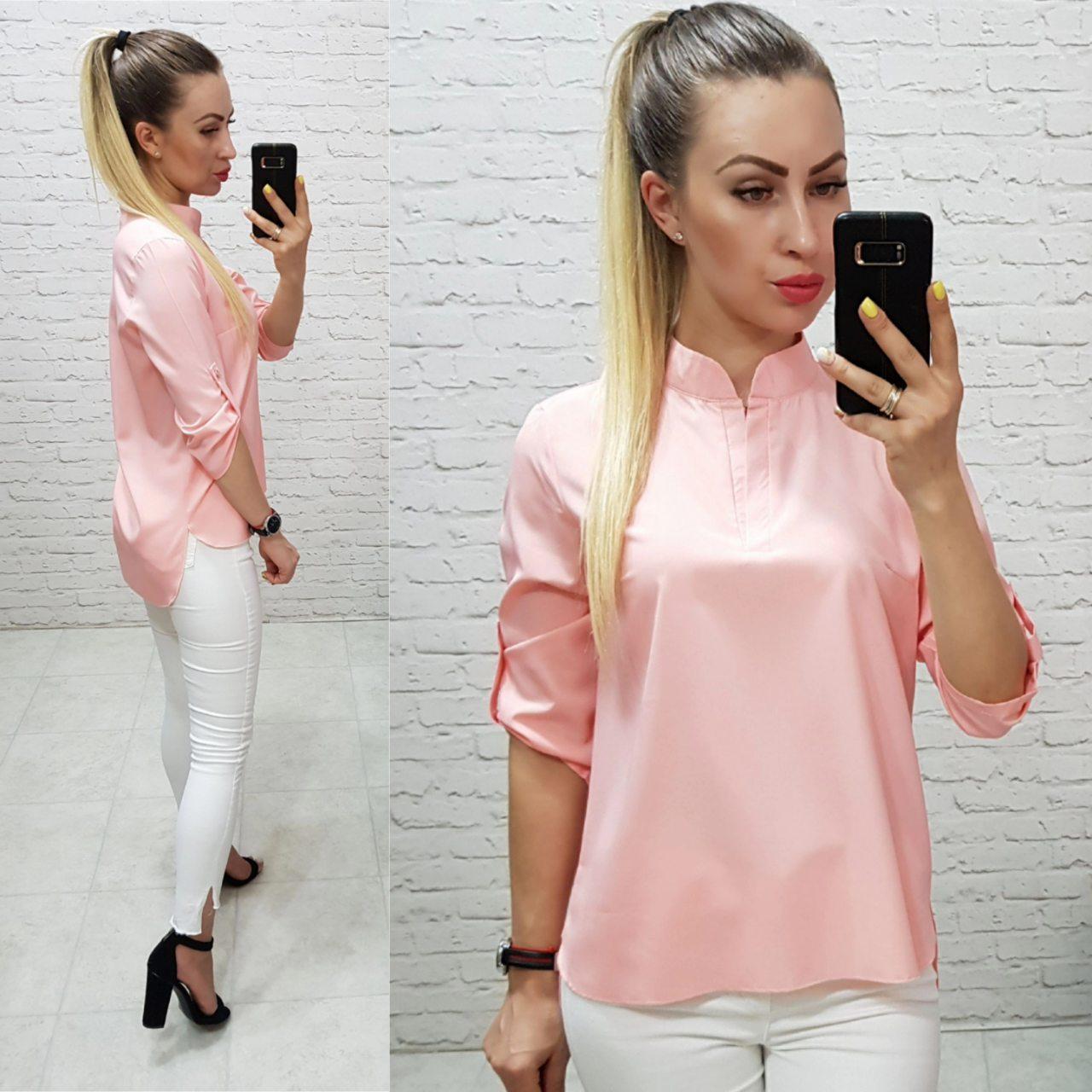 Блуза арт. 749 ніжного персикового кольору / пудра