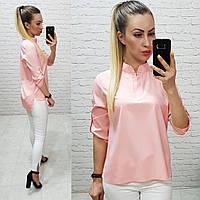 Блуза арт. 749 ніжного персикового кольору / пудра, фото 1