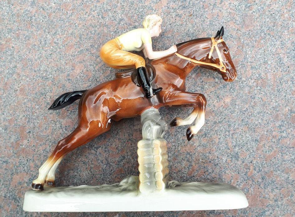 Статуэтка Жокей на коне фарфор Германия ХХ век