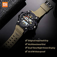 Часы Xiaomi Twenty Seventeen Dual Display Watch L W008Q 54 мм Green Waterproof 5ATM Luminous Youpin