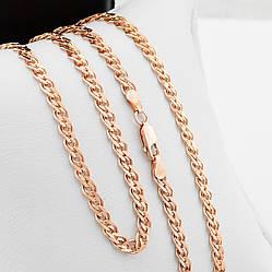 Серебряная цепочка позолоченная Нонна длина 55 см ширина 4.5 мм вес 12.7 г
