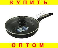 Тефлоновая сковородка A-plus 24см с крышкой
