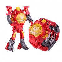 Детская игрушка Robot Watch часы робот трансформер 2 в 1 Red #D/S
