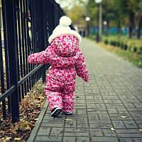 Зимовий злитий комбінезон для дівчинки