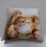 Подушка Декоративная рыжий кот размер 43/46 см