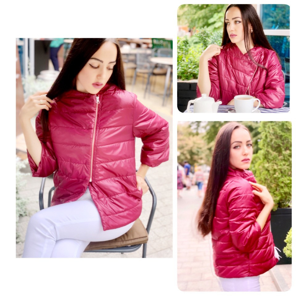 Куртка кімоно oversize арт. М524 марсала / бордова / вишневая