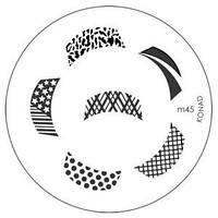 Диск для стемпинга Конад (трафарет) М 45