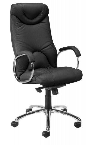 Кресло кожаное для руководителя  «ELF steel chrome» SP
