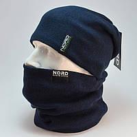 """Комплект """"Kruz"""" шапка с заклепкой и бафф на флисе"""