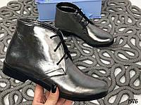 40р. Ботинки женские деми серебристые кожаные на низком ходу,демисезонные,из натуральной кожи,натуральная кожа, фото 1