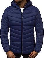 Куртка чоловіча демісезонна осіння весняна утеплена синя, фото 1