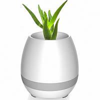 Портативный умный цветочный горшок-колонка Smart Music Flowerpot с музыкой White #D/S