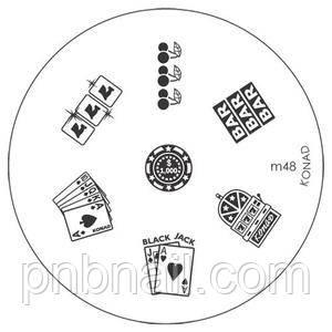 Трафареты для стемпинга KONAD (диски) М 48