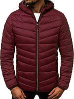 Куртка чоловіча демісезонна осіння весняна утеплена бордова, фото 1