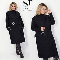 Кашемировое женское пальто размер батал, фото 1