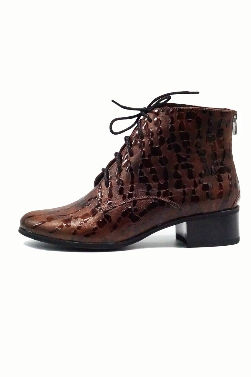 Коричневые классические ботинки