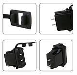 USB  зарядка врезная 4.2A  / 12V-24V мото , автомобильное зарядное устройство влагостойкое с вольтметром LED, фото 7