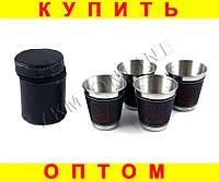 Набор стаканов рюмок в чехле D57 4 шт