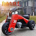 Детский электромобиль Мотоцикл M 4113 EL-3, EVA колеса, Кожаное сиденье, красный, фото 2