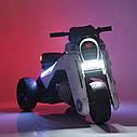 Детский электромобиль Мотоцикл M 4113 EL-3, EVA колеса, Кожаное сиденье, красный, фото 8