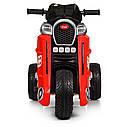 Детский электромобиль Мотоцикл M 4113 EL-3, EVA колеса, Кожаное сиденье, красный, фото 4