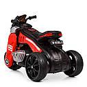 Детский электромобиль Мотоцикл M 4113 EL-3, EVA колеса, Кожаное сиденье, красный, фото 6